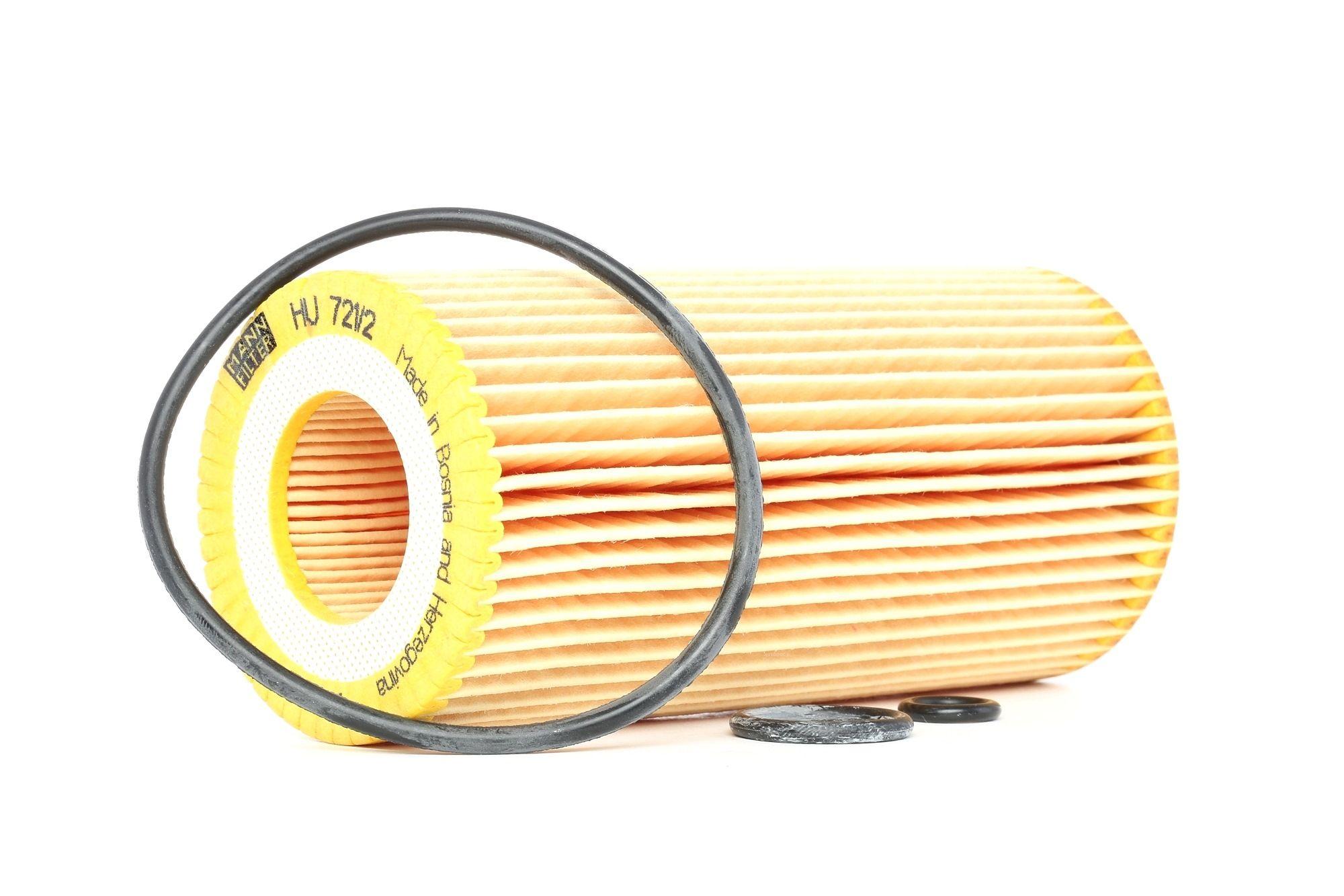 MANN-FILTER: Original Ölfilter HU 721/2 x (Innendurchmesser: 31mm, Innendurchmesser 2: 31mm, Ø: 64mm, Höhe: 135mm)