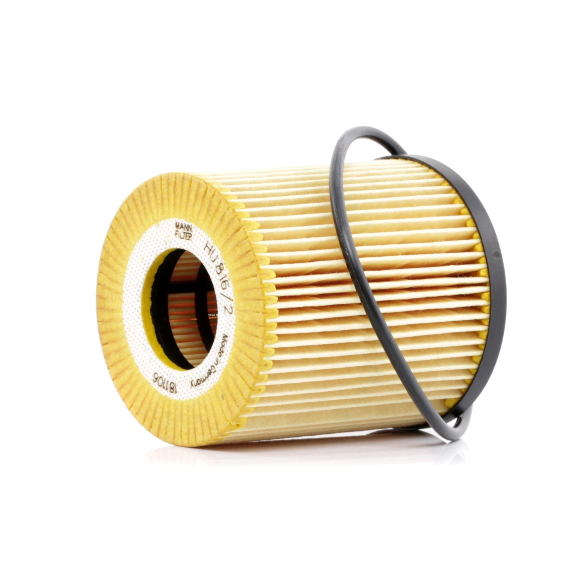 MANN-FILTER: Original Kfz-Filter HU 816/2 x (Innendurchmesser: 31mm, Innendurchmesser 2: 22mm, Ø: 70mm, Höhe: 83mm)