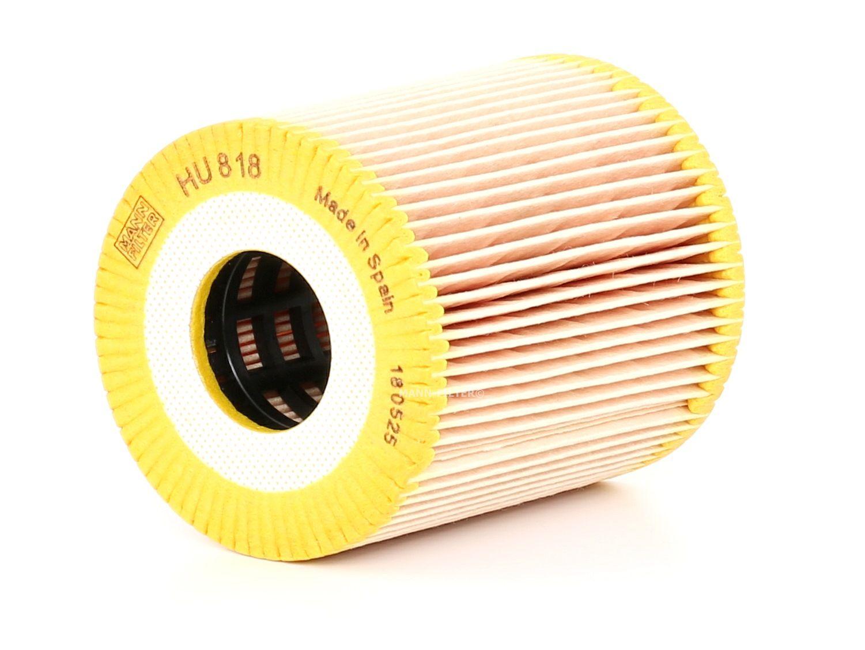 MANN-FILTER: Original Motorölfilter HU 818 x (Innendurchmesser: 28mm, Innendurchmesser 2: 28mm, Ø: 68mm, Höhe: 79mm)