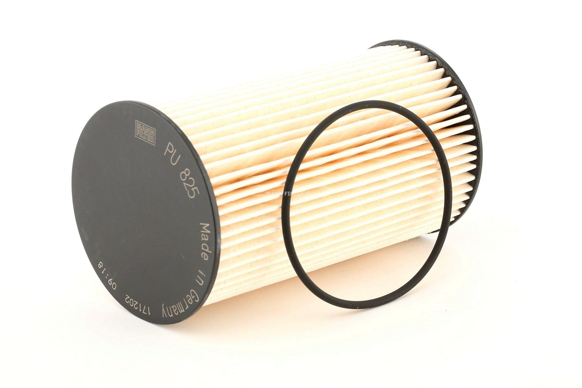 Køb PU 825 x MANN-FILTER Filterindsats, med pakninger Höhe: 136mm Brændstof-filter PU 825 x billige
