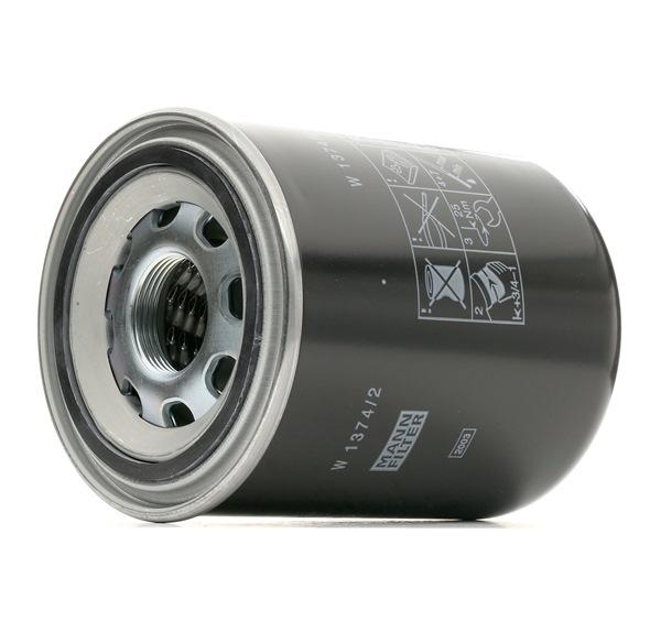 Beställ W 1374/2 MANN-FILTER Hydraulikfilter, automatväxel nu