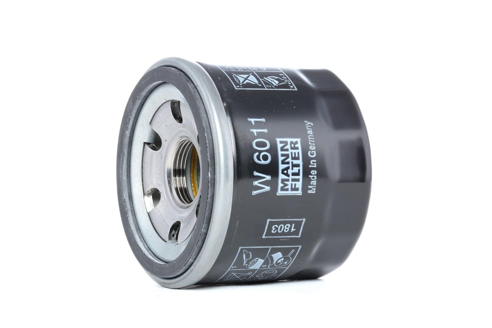 MANN-FILTER: Original Motorölfilter W 6011 (Innendurchmesser 2: 54mm, Innendurchmesser 2: 54mm, Ø: 66mm, Außendurchmesser 2: 62mm, Höhe: 58mm)