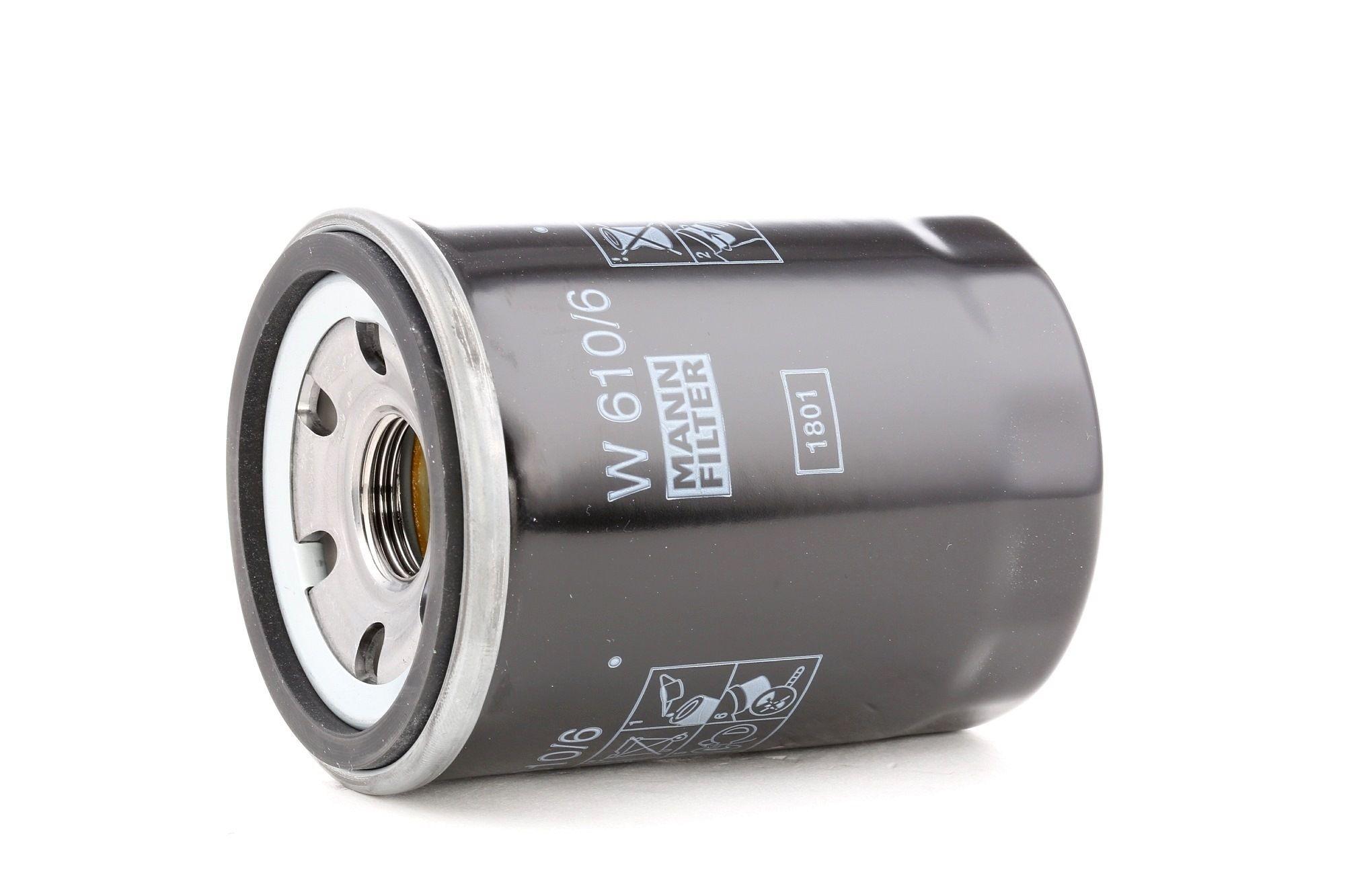 W 610/6 MANN-FILTER Screw-on Filter, with one anti-return valve Inner Diameter 2: 55mm, Inner Diameter 2: 55mm, Ø: 66mm, Outer diameter 2: 62mm, Height: 90mm Oil Filter W 610/6 cheap