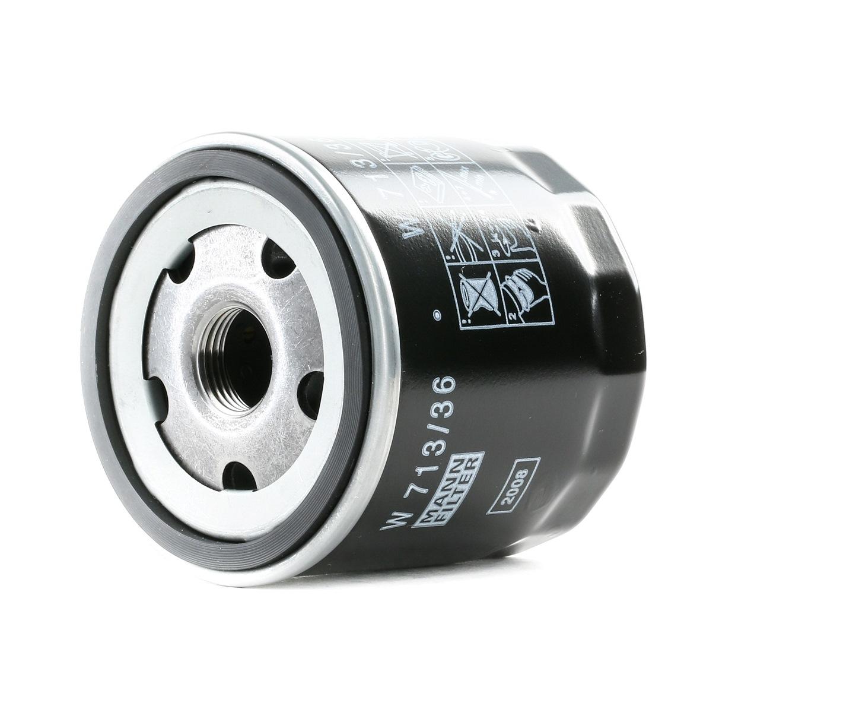 MAZDA BT-50 2014 Ölfilter - Original MANN-FILTER W 713/36 Innendurchmesser 2: 62mm, Innendurchmesser 2: 62mm, Ø: 76mm, Außendurchmesser 2: 72mm, Höhe: 75mm