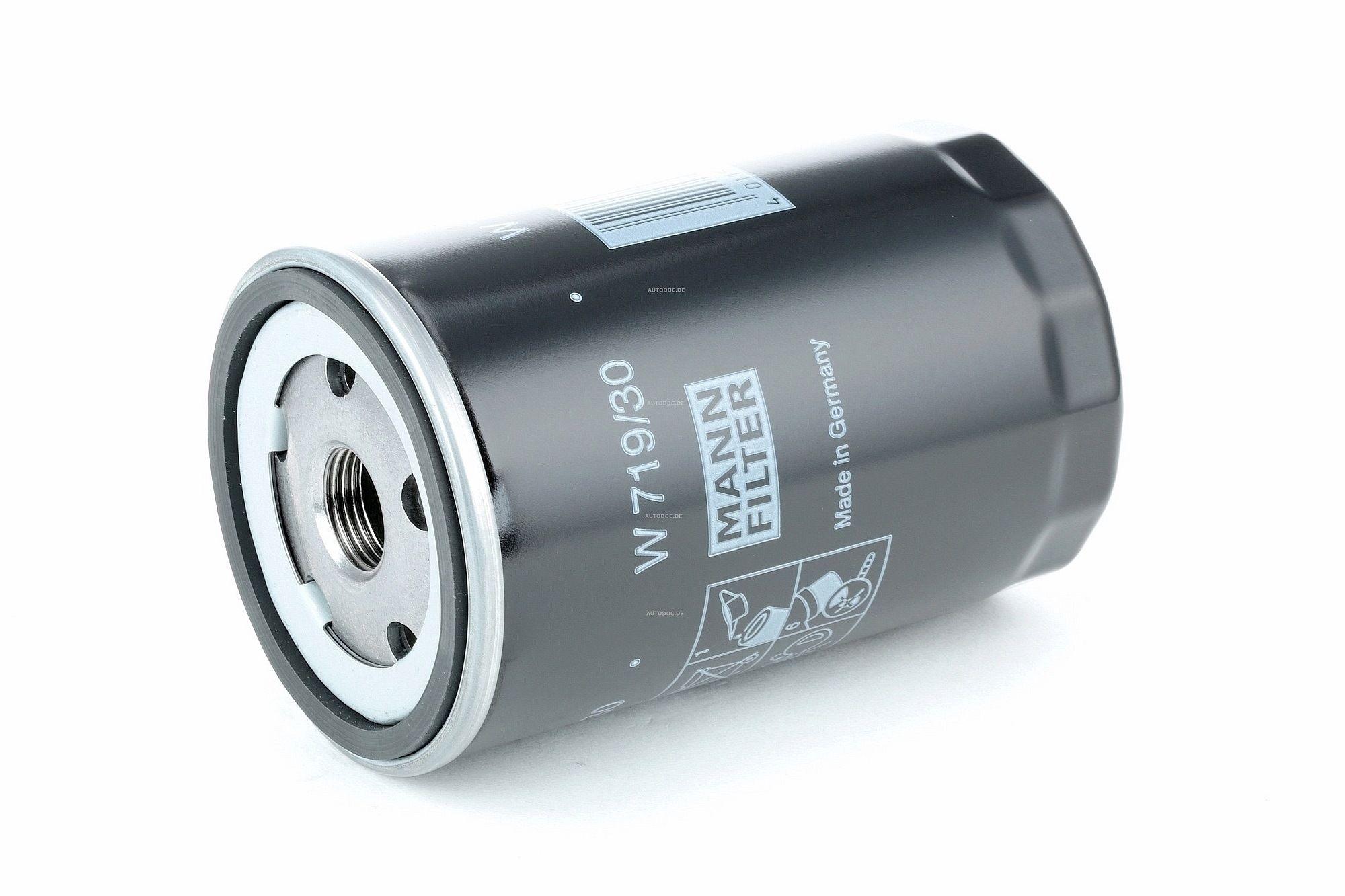 Achetez Filtre à huile MANN-FILTER W 719/30 (Diamètre intérieur 2: 62mm, Diamètre intérieur 2: 62mm, Ø: 76mm, Diamètre extérieur 2: 71mm, Hauteur: 123mm) à un rapport qualité-prix exceptionnel