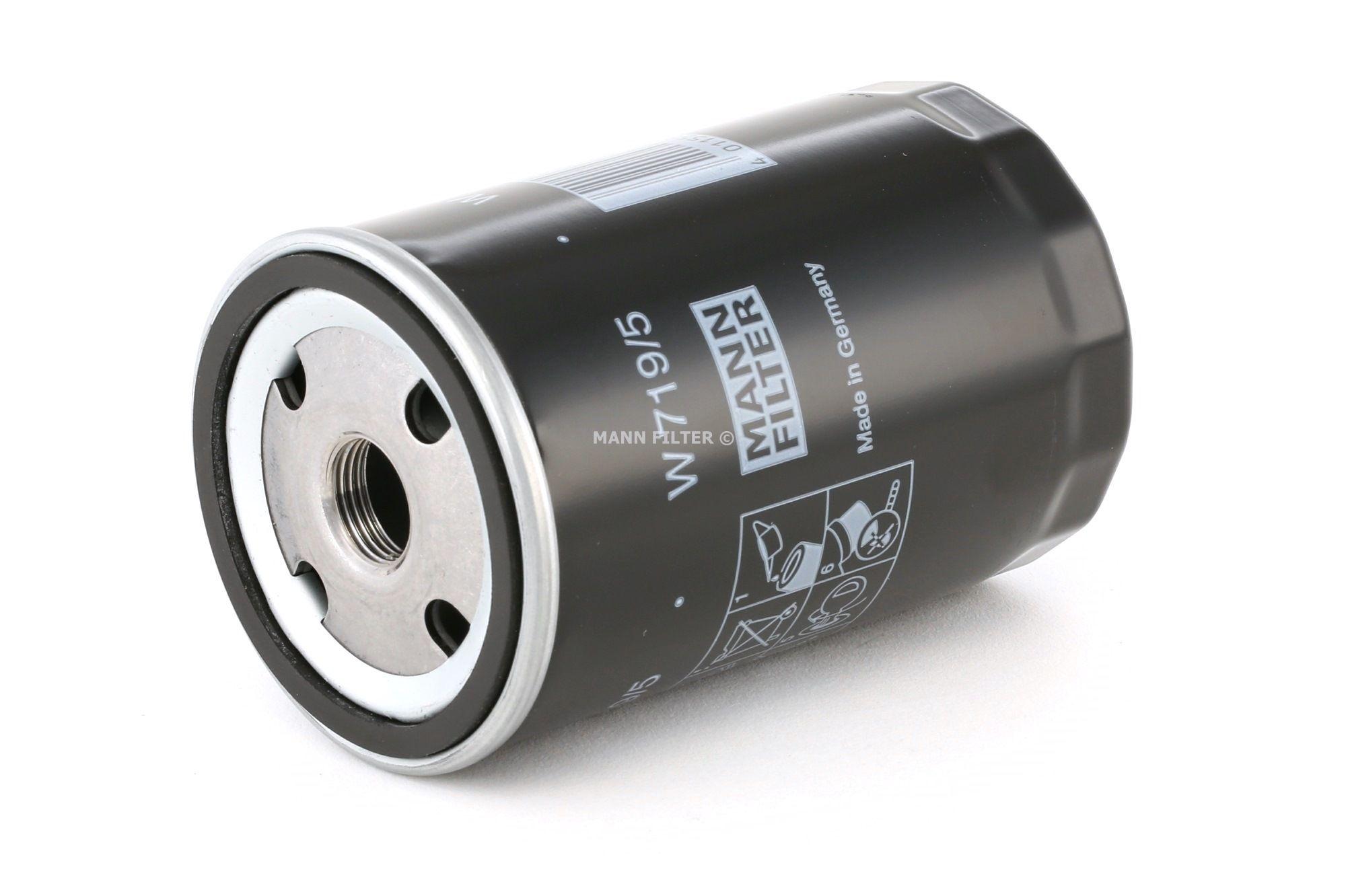 Achetez Filtration MANN-FILTER W 719/5 (Diamètre intérieur 2: 62mm, Diamètre intérieur 2: 62mm, Ø: 76mm, Diamètre extérieur 2: 71mm, Hauteur: 123mm) à un rapport qualité-prix exceptionnel