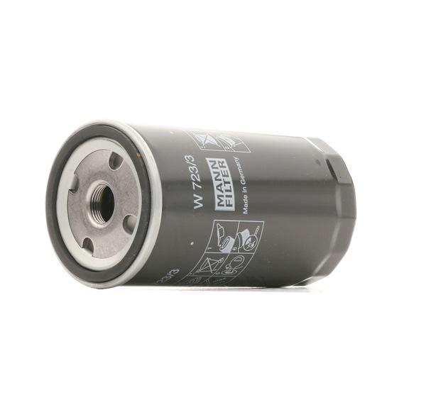 MANN-FILTER: Original Motorölfilter W 723/3 (Innendurchmesser 2: 62mm, Ø: 76mm, Außendurchmesser 2: 71mm, Höhe: 142mm) mit vorteilhaften Preis-Leistungs-Verhältnis