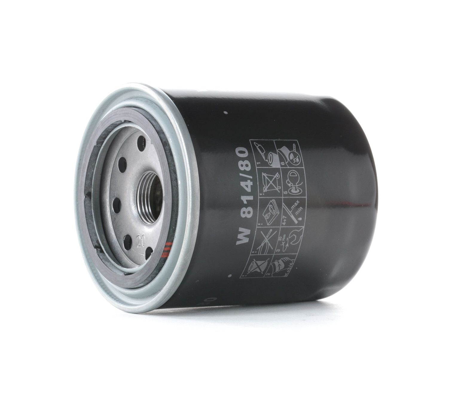 W 814/80 MANN-FILTER mit einem Rücklaufsperrventil Innendurchmesser 2: 57mm, Ø: 82mm, Außendurchmesser 2: 66mm, Höhe: 92mm Ölfilter W 814/80 günstig kaufen