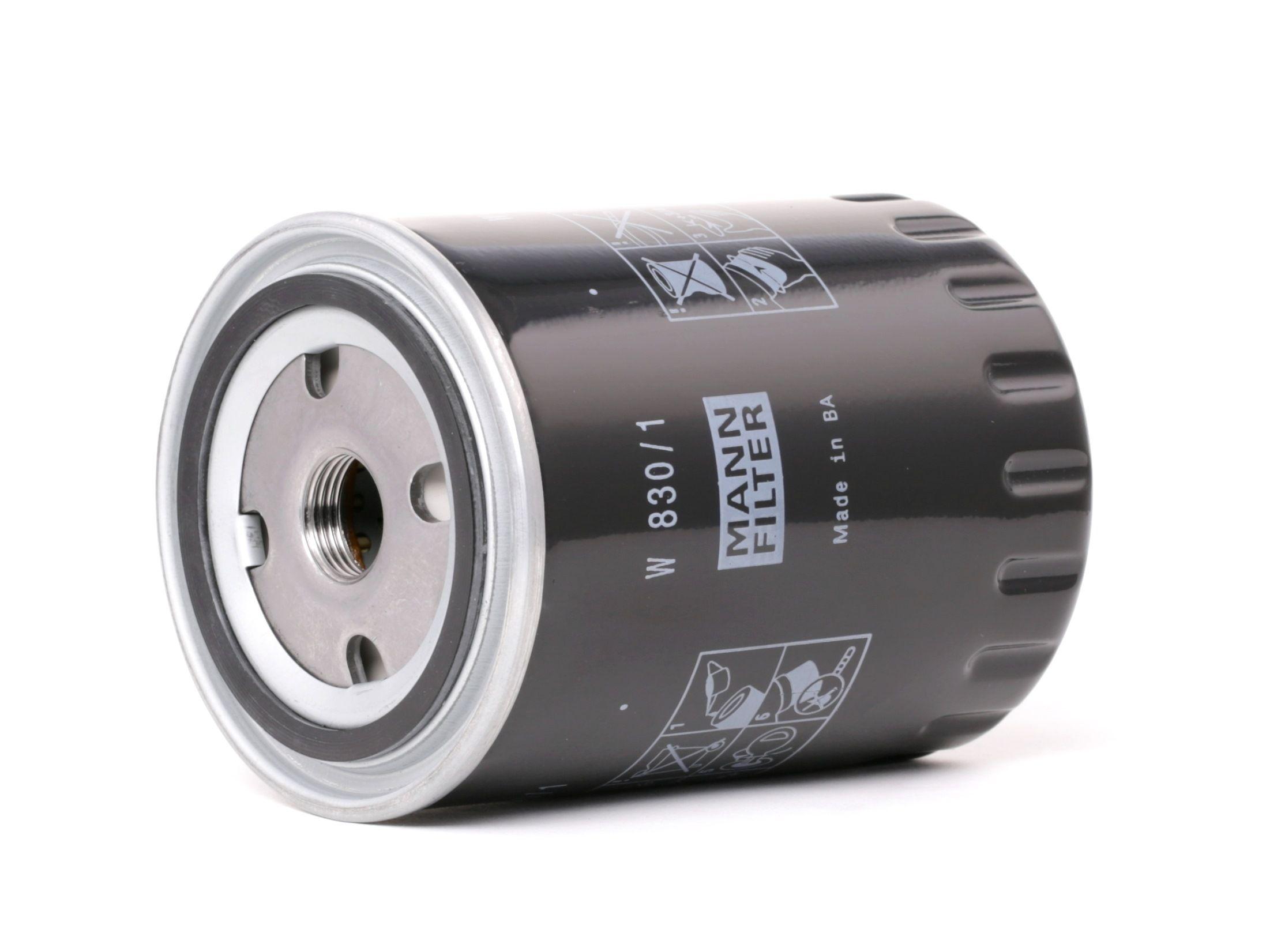 Achetez Filtre à huile MANN-FILTER W 830/1 (Diamètre intérieur 2: 62mm, Diamètre intérieur 2: 62mm, Ø: 86mm, Diamètre extérieur 2: 71mm, Hauteur: 119mm) à un rapport qualité-prix exceptionnel