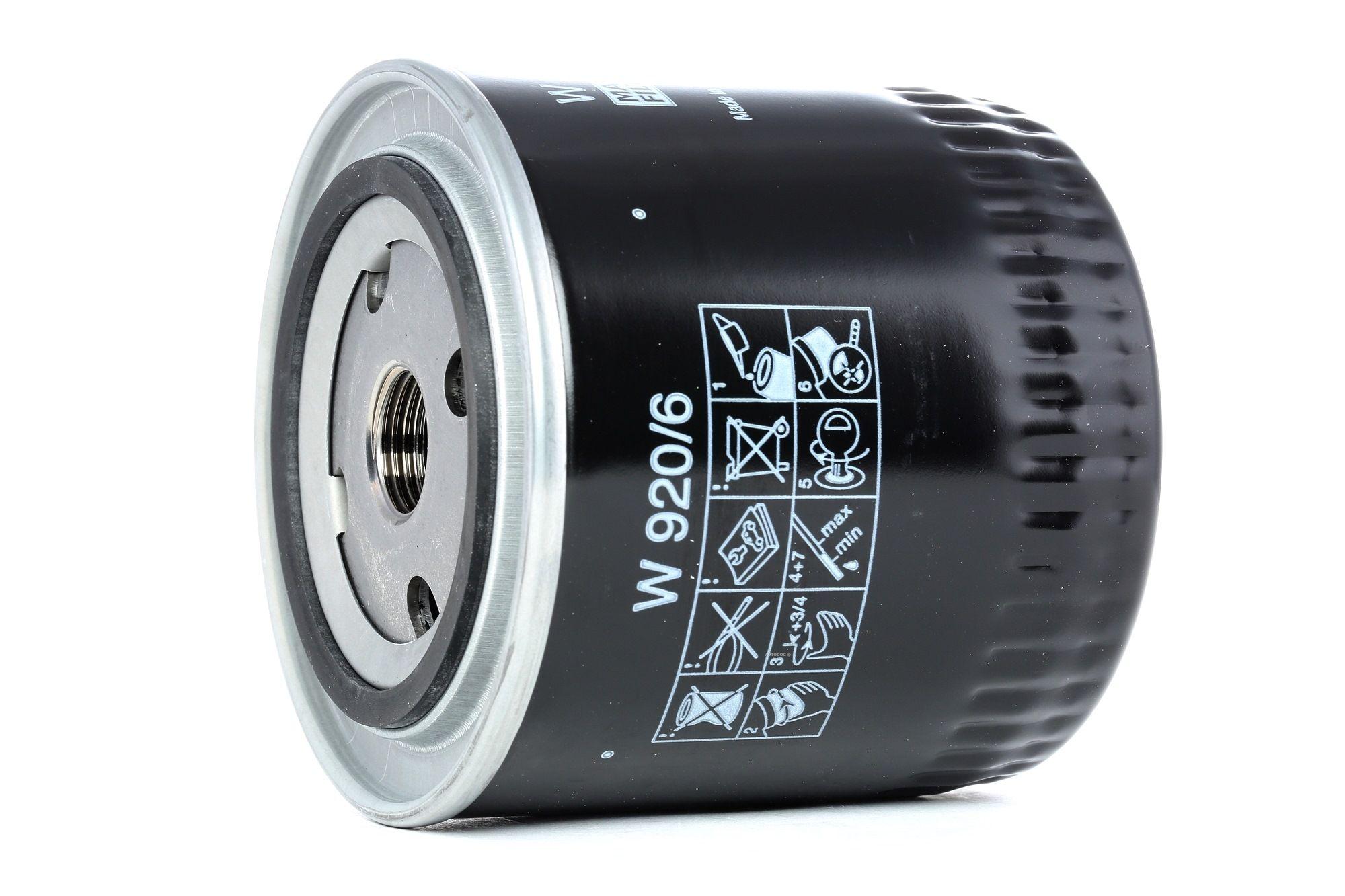 MANN-FILTER: Original Motorölfilter W 920/6 (Innendurchmesser 2: 62mm, Innendurchmesser 2: 62mm, Ø: 93mm, Außendurchmesser 2: 71mm, Höhe: 95mm)