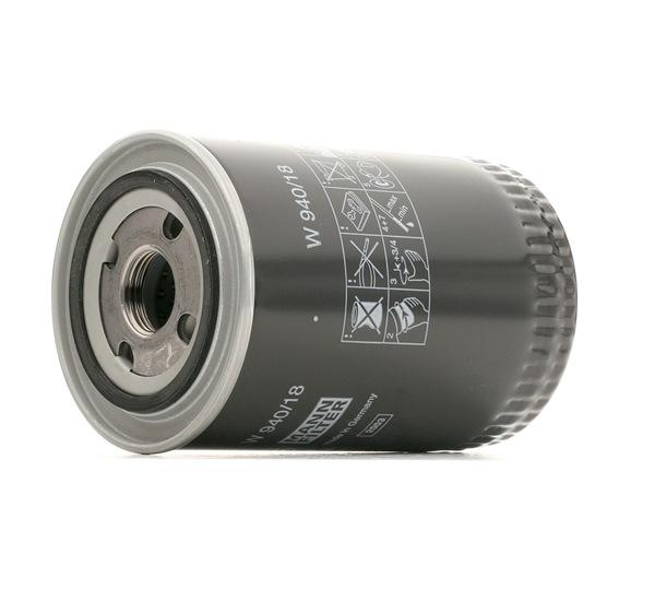 Encomende W 940/18 MANN-FILTER Filtro de óleo agora