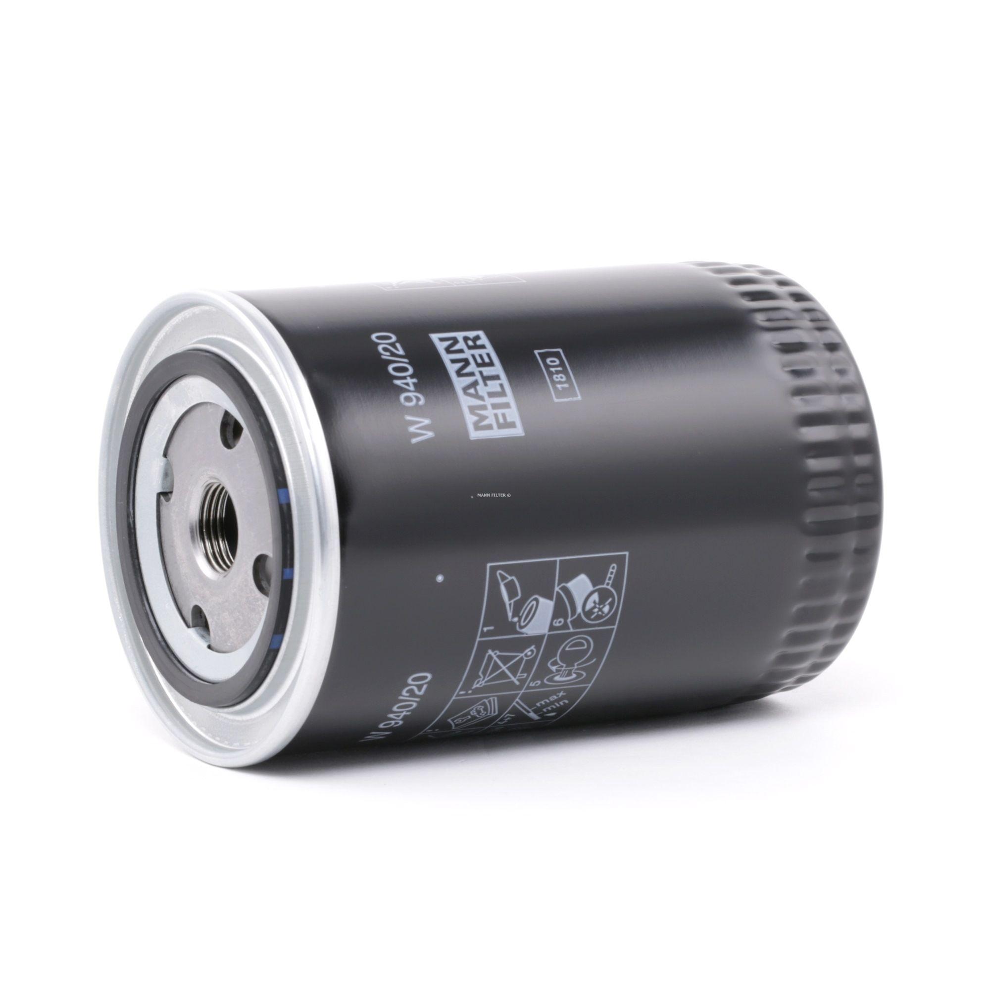 Achetez Filtre à huile MANN-FILTER W 940/20 (Diamètre intérieur 2: 62mm, Diamètre intérieur 2: 62mm, Ø: 93mm, Diamètre extérieur 2: 71mm, Hauteur: 142mm) à un rapport qualité-prix exceptionnel