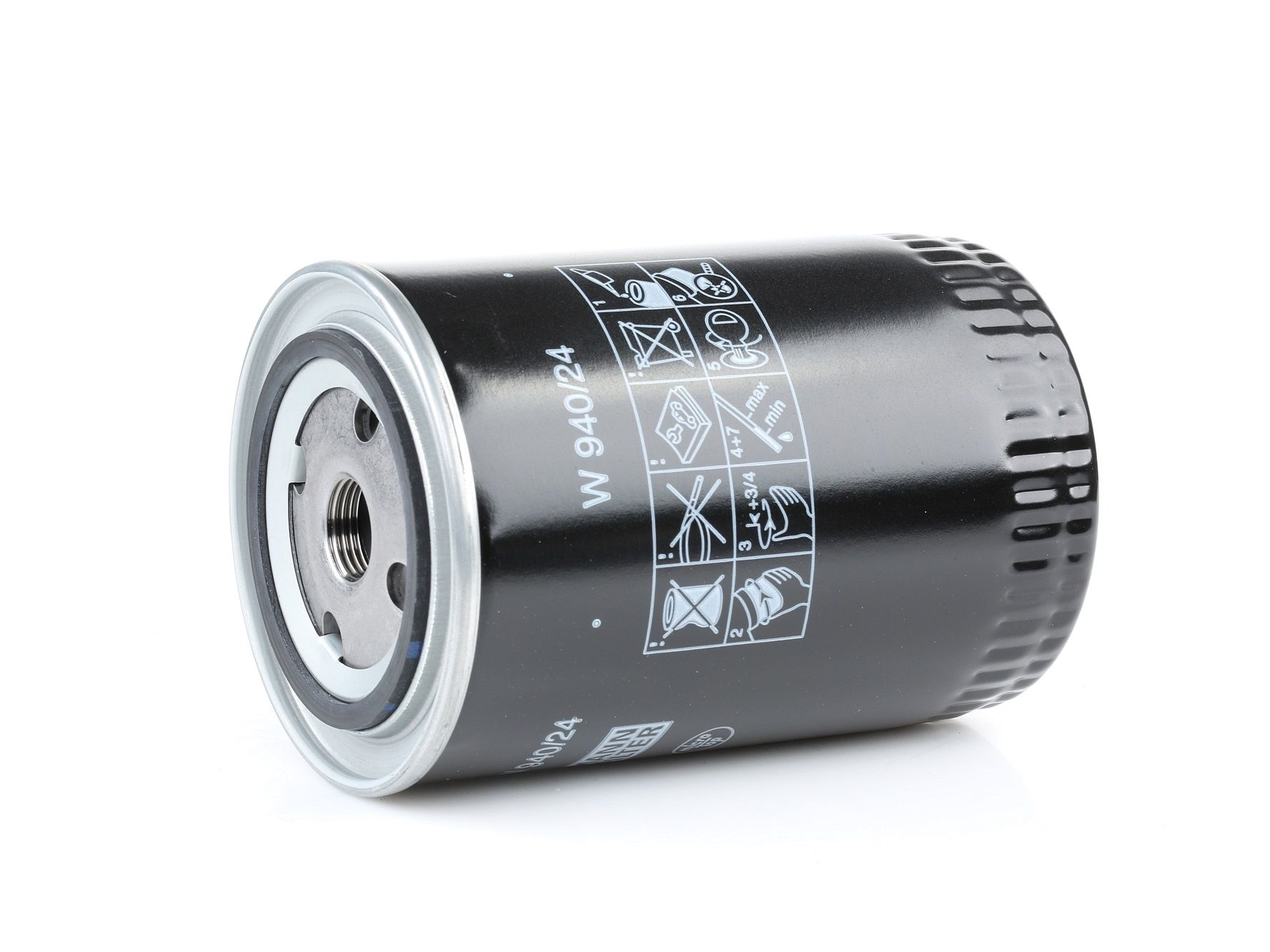 MANN-FILTER: Original Ölfilter W 940/24 (Innendurchmesser 2: 62mm, Innendurchmesser 2: 62mm, Ø: 93mm, Außendurchmesser 2: 71mm, Höhe: 142mm)