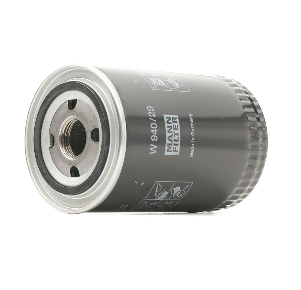 W 940/29 MANN-FILTER Anschraubfilter Innendurchmesser 2: 62mm, Innendurchmesser 2: 62mm, Ø: 93mm, Außendurchmesser 2: 71mm, Höhe: 142mm Ölfilter W 940/29 günstig kaufen