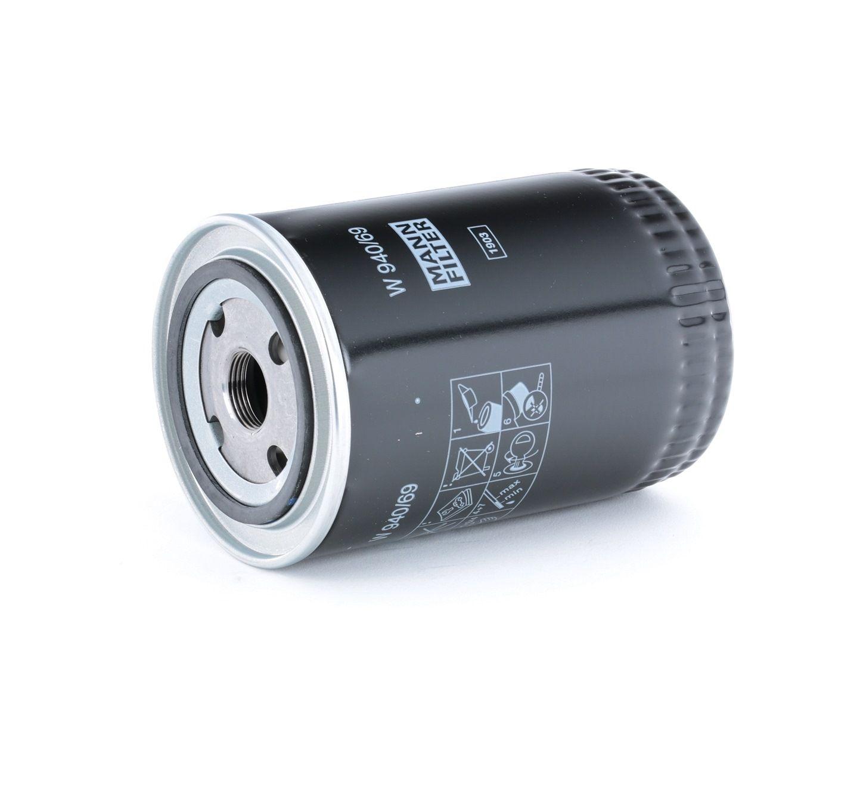 MANN-FILTER: Original Motorölfilter W 940/69 (Innendurchmesser 2: 63mm, Innendurchmesser 2: 63mm, Ø: 93mm, Außendurchmesser 2: 72mm, Höhe: 143mm)