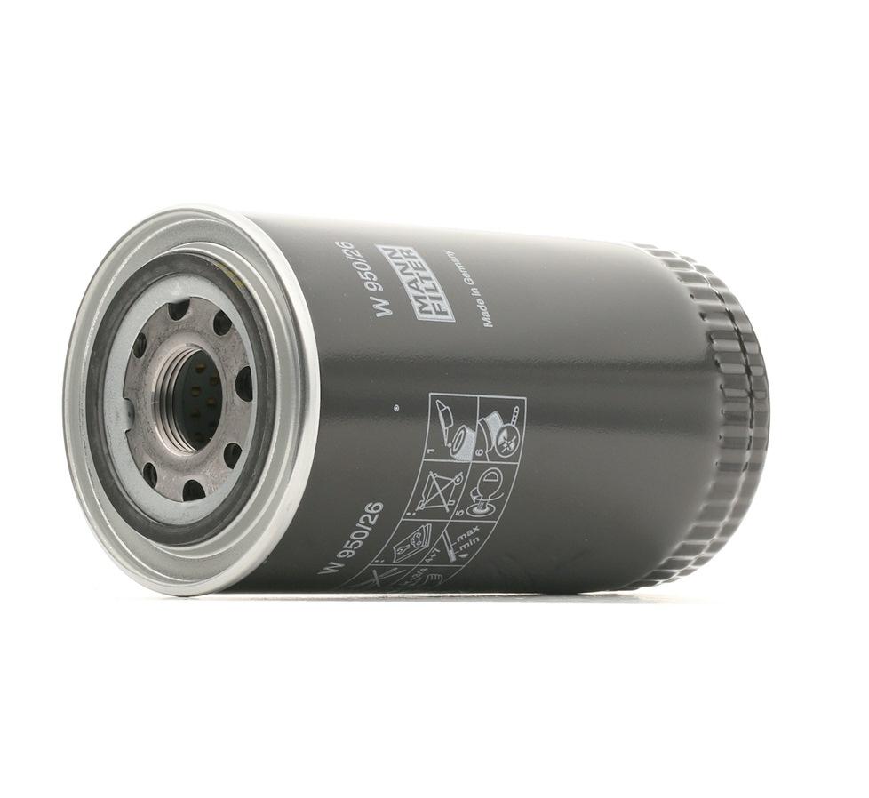 W 950/26 MANN-FILTER Anschraubfilter Innendurchmesser 2: 63mm, Ø: 93mm, Außendurchmesser 2: 72mm, Höhe: 171mm Ölfilter W 950/26 günstig kaufen