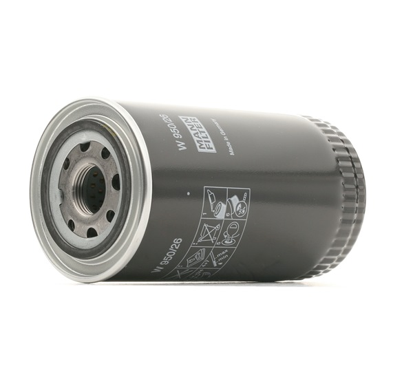Comprare W 950/26 MANN-FILTER Diametro interno 2: 63mm, Ø: 93mm, Diametro esterno 1: 72mm, Alt.: 171mm Filtro olio W 950/26 poco costoso