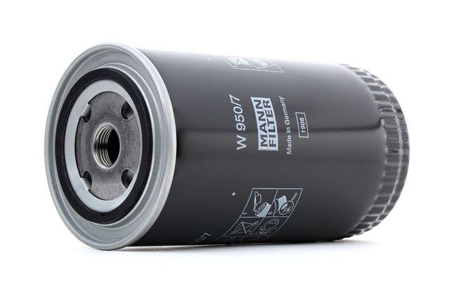 Bestil W 950/7 MANN-FILTER Oliefilter nu