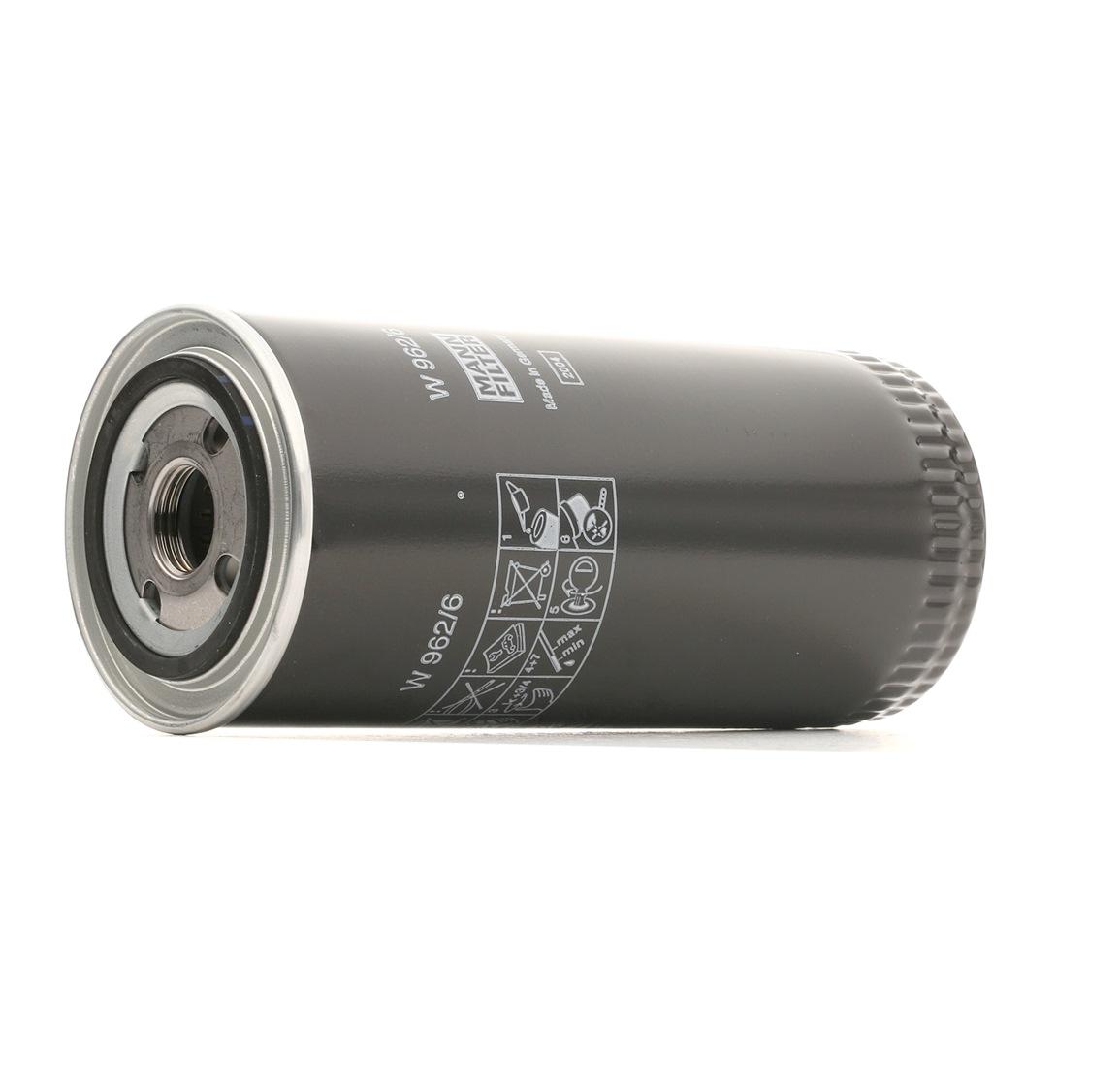 AUDI 80 1992 Motorölfilter - Original MANN-FILTER W 962/6 Innendurchmesser 2: 62mm, Innendurchmesser 2: 62mm, Ø: 93mm, Außendurchmesser 2: 71mm, Höhe: 223mm