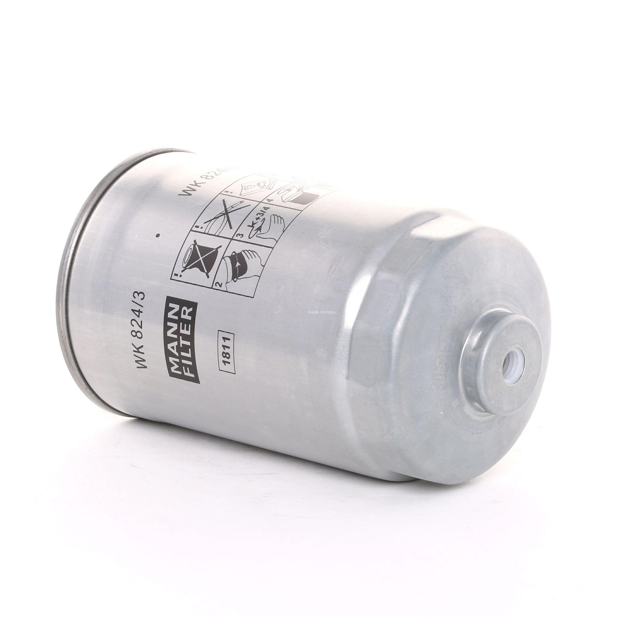 Palivový filtr WK 824/3 s vynikajícím poměrem mezi cenou a MANN-FILTER kvalitou
