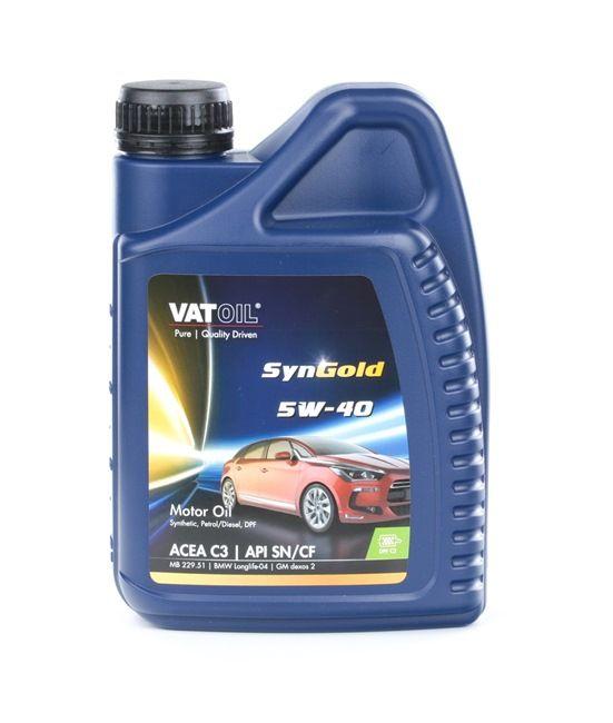 50010 VATOIL SynGold 5W-40, 1l, Syntetolja Motorolja 50010 köp lågt pris