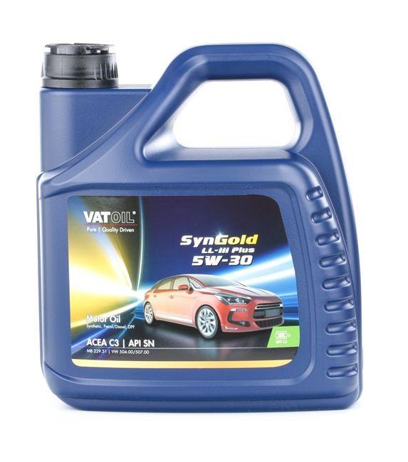 d'origine VATOIL Huile moteur voiture 2236198241000 5W-30, 4I, Huile synthétique