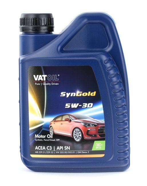 50025 VATOIL SynGold 5W-30, 1l, Syntetolja Motorolja 50025 köp lågt pris