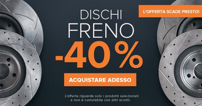 L'offerta scade presto! Promozione sensazionale Dischi freno -40% - Acquistare adesso!