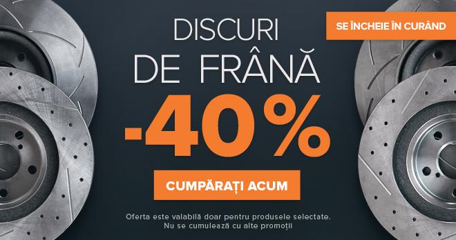 SE ÎNCHEIE ÎN CURÂND Super ofertă DISCURI DE FRÂNĂ -40% - CUMPĂRAȚI ACUM!