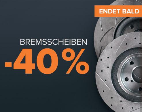 Endet bald Super-Sale Bremsscheiben -40 % - JETZT KAUFEN!
