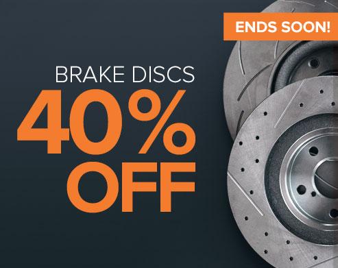 ENDS SOON! Super Sale Brake Discs 40% off - Shop now!