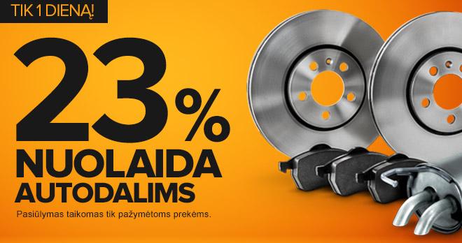 Sutaupykite 23% autodalims