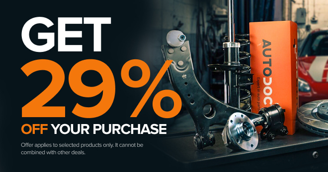 Save 29% on spare parts