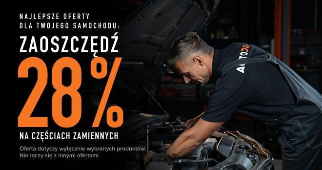 Zaoszczędź 28% na częściach zamiennych