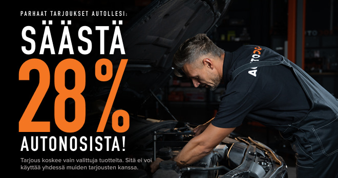 Säästä 28 % autonosista!