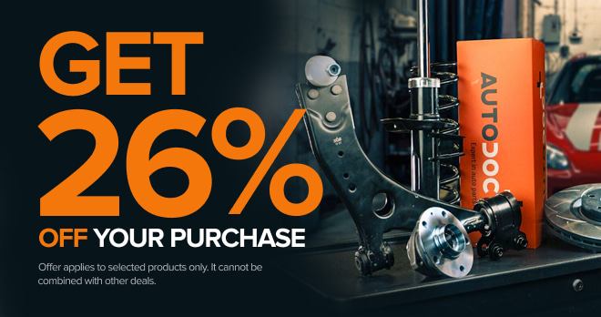 Save 26% on spare parts