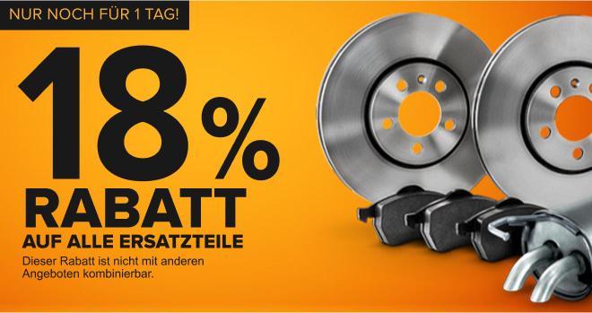Sparen Sie 18 % AUF ERSATZTEILE