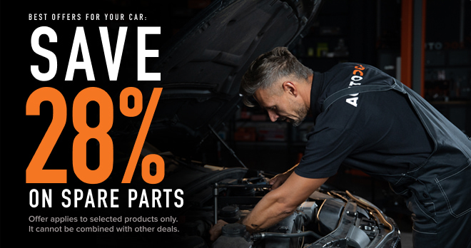 Save 28% on spare parts