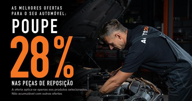 Poupe 28 % nas peças de reposição