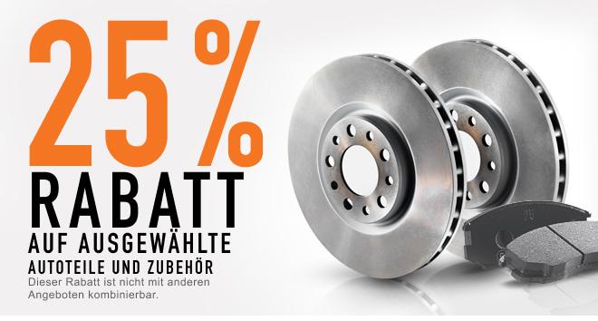 Sparen Sie 25 % AUF ERSATZTEILE