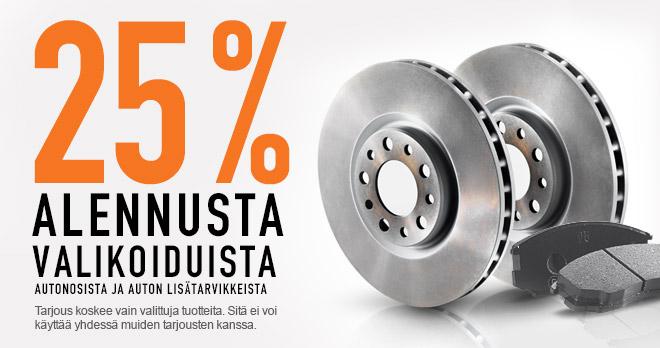 Säästä 25 % autonosista!