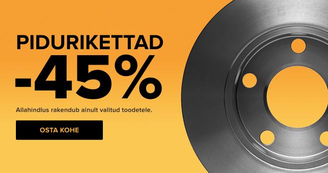 Pidurikettad -45%!