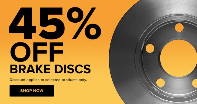 Brake Discs 45% off!