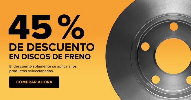 Discos de freno 45% DE DESCUENTO!