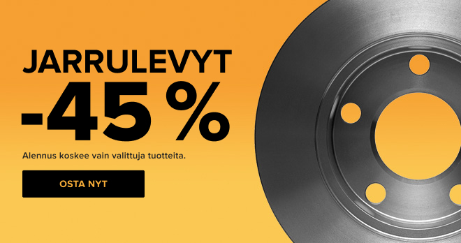 Jarrulevyt -45 %!