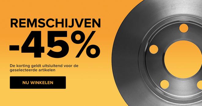 Remschijven -45%!