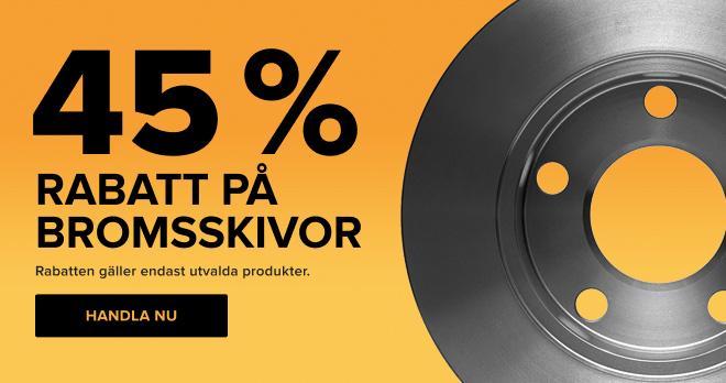 45 % rabatt på bromsskivor!