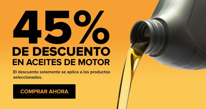 45% de descuento en aceite de motor