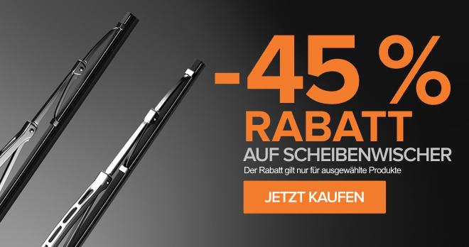 Scheibenwischer –45 %