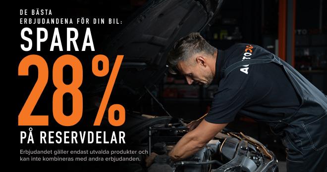 Spara 28 % på reservdelar